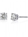 Deals List: The Diamond Channel Diamond Stud Earrings for Women - AGS Certified Real Diamond Earring Pair with Screw Back & Post Studs - 14K White Gold Diamond Studs - Fine Jewelry for Women & Men