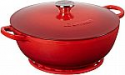 Deals List: Le Creuset Enameled Cast Iron Curved Round Chef's Oven with Silicone French Trivet, 4.5 qt., Cerise