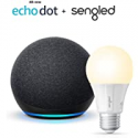 Deals List: All-new Echo Dot (4th Gen) - Charcoal - bundle with Sengled Bluetooth bulb