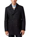 Deals List: Lauren Ralph Lauren Luke Men's Wool-Blend Classic-Fit Peacoat (black)