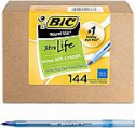 Deals List: BIC Round Stic Xtra Life Ballpoint Pen, Medium Point (1.0mm), Blue, 144-Count