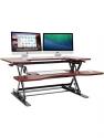 Deals List: Halter Height Adjustable Stand Up Desk Pre-Assembled Sit or Stand Workstation, Elevating Desktop Riser, 36 Inches (Cherry)