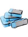 Deals List: AmazonBasics 4 Piece Packing Travel Organizer Cubes Set, Sky Blue