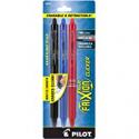 Deals List: Pilot Frixion Clicker Erasable Gel Pen, Assorted Ink, 3 per Pack (31467), Black/Blue/Red