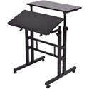 Deals List: Mind Reader 2-Tier Adjustable Mobile Workstation Desk