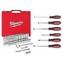 Deals List: Milwaukee 3/8 in. Drive SAE/Metric Ratchet and Socket Mechanics Tool Set (56 piece) & Screwdriver Set (6 piece)