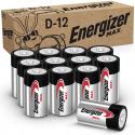 Deals List: Energizer Max D Batteries, Premium Alkaline D Cell Batteries (12 Battery Count)