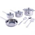 Deals List: Mainstays Stainless Steel 10-Pcs Cookware Set w/Kitchen Tool