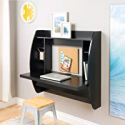 Deals List: Prepac Wall Mounted Floating Desk with Storage in Black