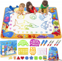 Deals List: Water Doodle Mat - Kids Painting Writing Doodle Toy Mat - Color Doodle Drawing Mat Bring Magic Pens Educational Toys for Age 3 4 5 6 7 8 9 10 11 12 Year Old Girls Boys Age Toddler Gift