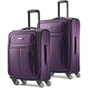 Deals List: Samsonite Leverage LTE Softside Expandable Luggage with Spinner Wheels, Purple, 2-Piece Set (20/25)