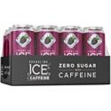 Deals List: Sparkling Ice +Caffeine Black Raspberry Sparkling Water, with Antioxidants and Vitamins, Zero Sugar, 16 fl oz Cans (Pack of 12)