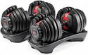 Deals List: Bowflex SelectTech 552 Version 2   Two Adjustable Medium Dumbbells   Black, Red & Grey