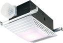 Deals List: Broan-NuTone 655 Bath Fan and Light with Heater, 70 CFM 4.0 Sones, White Plastic Grille