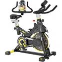 Deals List: Pooboo Indoor Cycling Bike, Belt Drive Indoor Exercise Bike