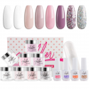 Deals List: Aikker 13pcs Acrylic Dipping Powder Nail Starter Kit 8 Color Dip Powder - French Set AK09