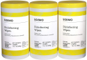 Deals List: Amazon Brand - Solimo Disinfecting Wipes, Lemon Scent, Sanitizes/Cleans/Disinfects/Deodorizes, 75 Count (Pack of 3)