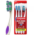 Deals List: Colgate 360 Optic White Whitening Toothbrush, Soft - 4 Count
