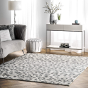 "Deals List: nuLOOM Print Leopard Area Rug, 5' x 7' 5"", Gray"