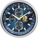 Deals List: Citizen CC2030 Gallery Wall Clock, Silver-Tone