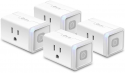 Deals List: Kasa Smart Plug HS103P4, Smart Home Wi-Fi Outlet Works with Alexa, Echo, Google Home & IFTTT, No Hub Required, Remote Control, 15 Amp, UL Certified,4-Pack