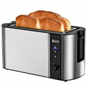 Deals List: IKICH 4 Slice Toaster, 2 Long Slot Stainless Steel