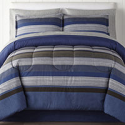 Deals List: Home Expressions Harlan Stripes Complete Bedding Set 6Pc Twin