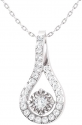 Deals List: Oval Lab-Created White Sapphire and Diamond Accent Loop Pendant