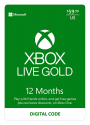 Deals List: Xbox Live Gold: 12 Month Membership [Digital Code]