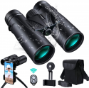 Deals List: UNEGROUP Binoculars for Adults and Kids, 10x42 HD Low Light Vision Compact Binocular, Waterproof Lightweight Binocular Prism FMC BAK4 for Bird Watching Sports Games with Smartphone Adapter Tripod