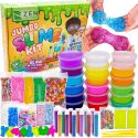 Deals List: DIY Slime Kit Toy for Kids Girls Boys Ages 5-12, Glow in The Dark Glitter Slime Making Kit - Slime Supplies w/ Foam Beads Balls, 18 Mystery Box Containers Filled Crystal Powder Slime