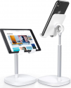 Deals List: Cell Phone Stand,Angle Height Adjustable LISEN Cell Phone Stand for Desk,Thick Case Friendly Phone Holder Stand for Desk, Compatible with All Mobile Phones