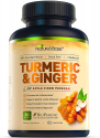 Deals List: Nature's Base Turmeric Curcumin with Ginger and Apple Cider Vinegar, 95% Curcuminoids, Tumeric Supplements, Occasional Joint Relief, Inflammatory Response, Natural Plant Based Anti-Oxidant Properties