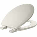 Deals List: BEMIS 500EC 006 Toilet Seat with Easy Clean & Change Hinges, ROUND, Durable Enameled Wood, Bone
