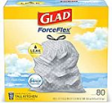 Deals List: 80-Ct 13-Gal Glad Odorshield Tall Kitchen Drawstring Trash Bags (Febreze)