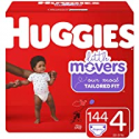 Deals List: 2 x Huggies Little Movers Baby Diapers, Size 4, 144 Ct, One Month Supply