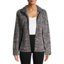 Deals List: Jason Maxwell Womens Full Zip Faux Sherpa Jacket