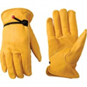 Deals List: Leather Work Gloves with Adjustable Wrist, Small (Wells Lamont 1132S),Saddle Tan