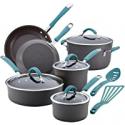 Deals List: Rachael Ray Cucina Nonstick Cookware Pots and Pans Set 12 Piece