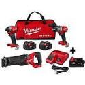 Deals List: Milwaukee M18 FUEL 18-Vt Li-Ion Brushless Combo Kit (Hammer Drill, Impact Driver, Sawzall) + 3X 5.0Ah Batteries