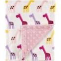 Deals List: Hudson Baby Printed Mink Blanket W/Dott 30x40-inch