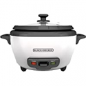 Deals List: BLACK+DECKER RC506 6-Cup Cooked/3-Cup Uncooked Rice Cooker and Food Steamer, White