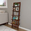 Deals List: Hastings Home - Open Ladder 5-Tiered Bookshelf (Walnut, Cherry or Oak)