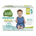 Deals List: Seventh Generation Baby Diapers, Size 5, 132 count, One Month Supply, for Sensitive Skin