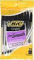 Deals List: BIC Cristal Xtra Smooth Ballpoint Pen, Medium Point (1.0mm), Black, 10-Count, BICMSP101BK