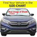 Deals List: Windshield Sun Shade Exact Fit Size Chart for Cars Suv Trucks