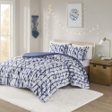 Deals List:  Intelligent Design Rae 3-Piece Cozy Sherpa Printed Duvet Set (Full/Queen, Blue/Frosty Ice)