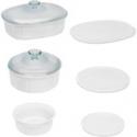 Deals List: CorningWare French White Round & Oval Baking Casserole Set 8 Piece
