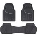 Deals List: Amazon Basics 3-Piece Full Coverage Odorless Rubber Floor Mat for Cars, SUVs and Trucks, Black