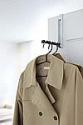 Deals List: Yamazaki Home Over The Door Hooks - Folding Hanging Coat Rack, Black